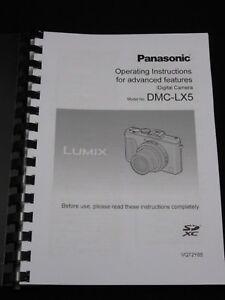 panasonic lumix lx5 camera printed user manual guide handbook 236 rh ebay co uk LX5 Mower LX5 Engine