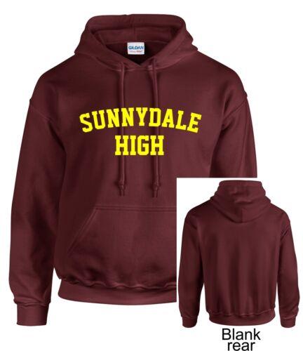 Maroon Sunnydale High Adulti Felpa Con Cappuccio Felpa CON CAPPUCCIO BUFFY ispirato SHS