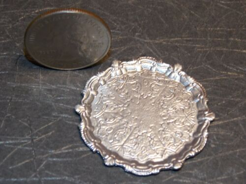 Dollhouse Miniature Silver Serving Tray Platter 1:12 scale Z36 Dollys Gallery