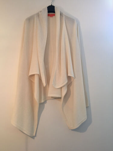 Christopher Fischer S/M Ivory Cardigan 100% Cashme