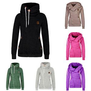 pullover damen hoodie hipster schwarz m dchen kapuzenpullover f r herbst winter ebay. Black Bedroom Furniture Sets. Home Design Ideas