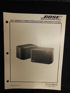 bose 301 series iv direct reflecting speaker system service manual rh ebay com bose 201 manual bose 301 series v manual pdf