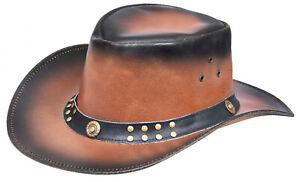 estilo australiano Sombrero de vaquero de cuero