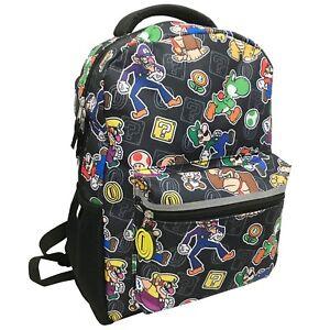 8ea2ab162d Image is loading Nintendo-Super-Mario-Kids-16-inch-Backpack-Yoshi-