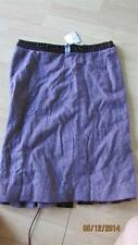 NWT BEBE Glossy Patent Leather Croc Trim Lace-Up Pleated Back Tweed Skirt Size 2