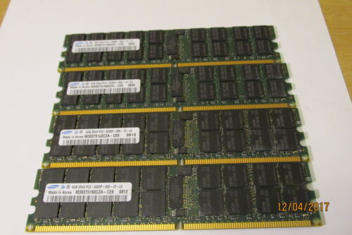 Samsung M393T5160QZA-CE6 4GB 2RX4 DDR2-667MHz PC2-5300P ECC 4X4gb 16gb