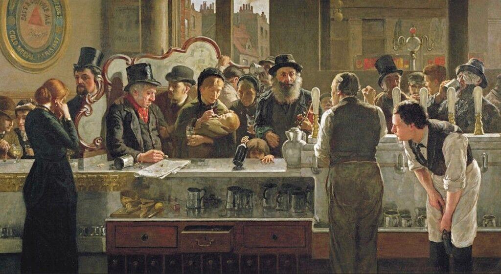 The Public Bar  In the Pub   John Henry Henshall Circa 1882  Art Print