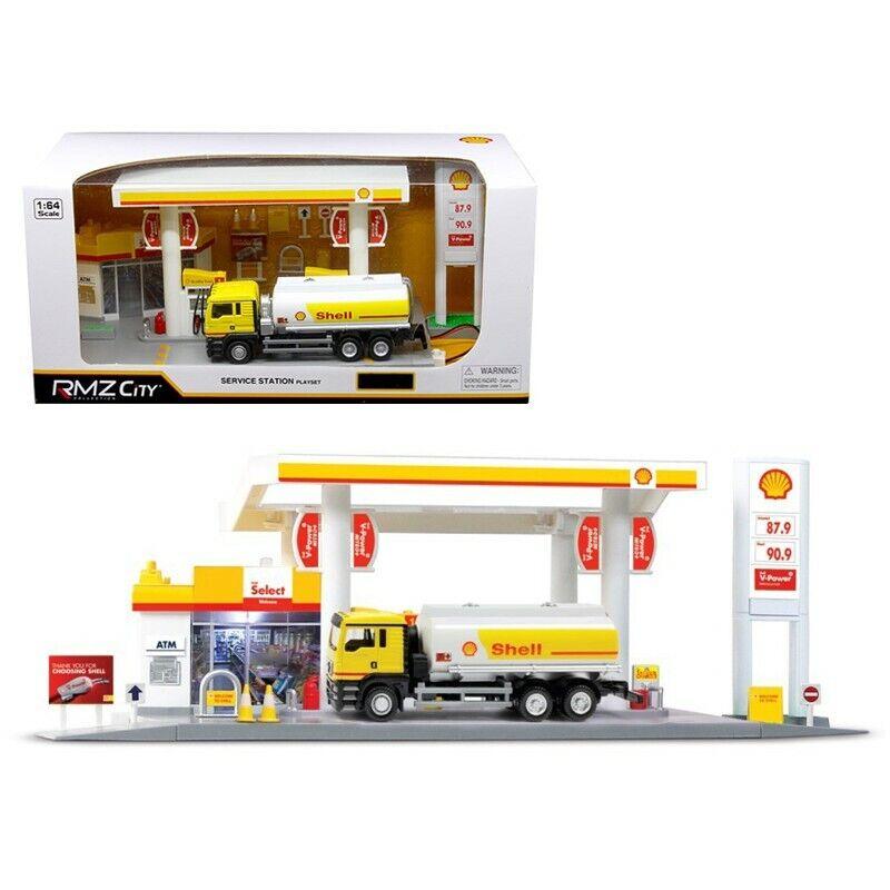 H. ciudad 1 64, estación de servicio Shell, Gas, con camión cisterna