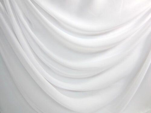 "100 Yards Chiffon Sheer Draping Fabric 60/"" White High Quality"