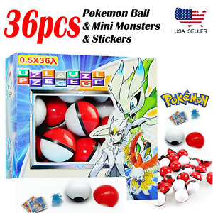 NEW-36pcs-Pokemon-Ball-with-Anime-Mini-Pocket-Action-Figure-Monsters-Game-Toys