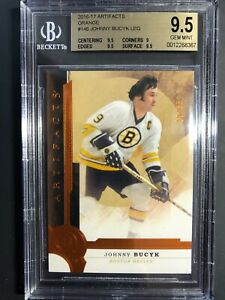 2016-17 Upper Deck Artifacts Orange Johnny Bucyk /55  BGS 9.5