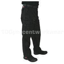 "Size 34""W REG Leg BLACK Lee Cooper LC205 Mens Work Wear Trousers Cargo Pants"