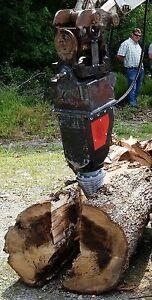 Black Splitter Hydraulic Log Splitter Mini Excavator Cone