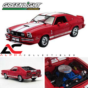 GREENLIGHT-12940-1-18-1978-FORD-MUSTANG-COBRA-II-RED-WHITE