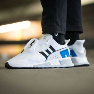 6989958e9d096 NEW Adidas EQT Cushion ADV Mens Sz 7 Running Shoes White Black Royal ...