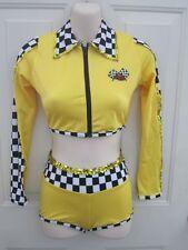 Yellow Black Race Flag Dance Costume Competition Medium Child MC 8 10