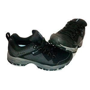 Fila-Women-039-s-Switchback-2-Hiking-Hiker-Water-Proof-Shoes-Black-6-AU-UK-3-5-NIB