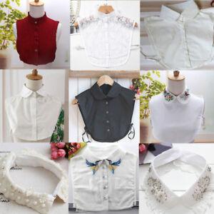 Women-Detachable-Lapel-Shirt-Fake-False-Collar-Choker-Lace-Cotton-Necklace