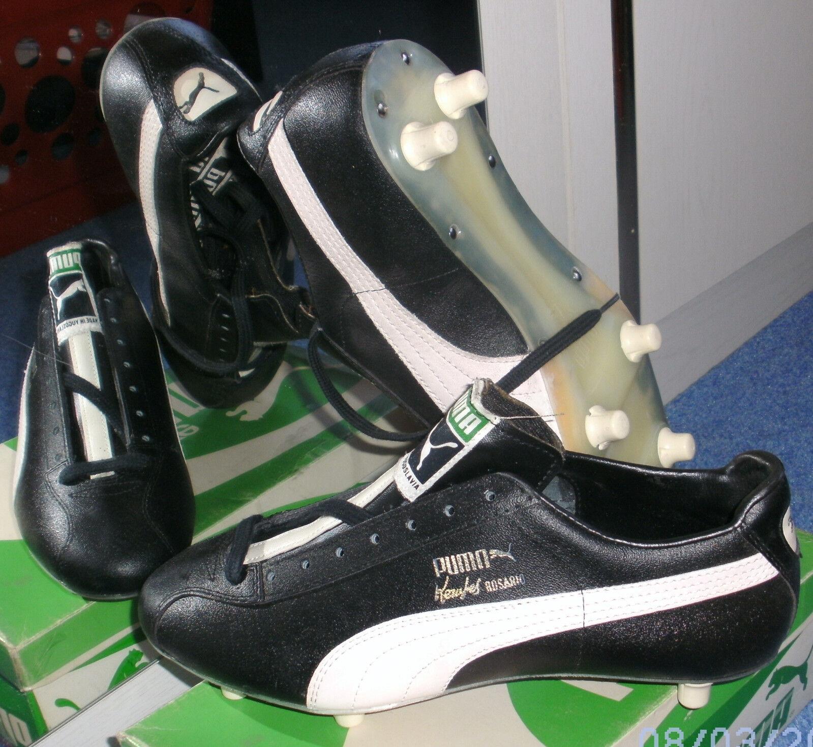 Neue seltene Vintage Puma Fußballschuhe Kempes Rosario SG 402, Gr. 41 = 7,5
