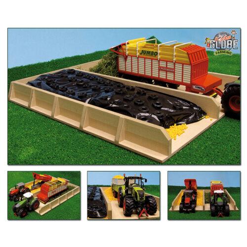 Kleinkindspielzeug Van Manen Spielzeug Holz Fahrsilo Silo Bauernhof Landwirtschaft 38x46x5 cm