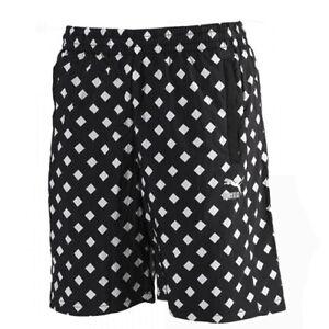 Puma Alife Arc All Over Diamond Print Mens Elastic Shorts Black 568203 01 Dd69 Kleidung & Accessoires Shorts & Bermudas