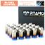 thumbnail 1 - RTAMO | M14x1.5Px45L Titanium Gr5 Hex Open-End Wheel Lug Nut Brunt Blue 20pcs