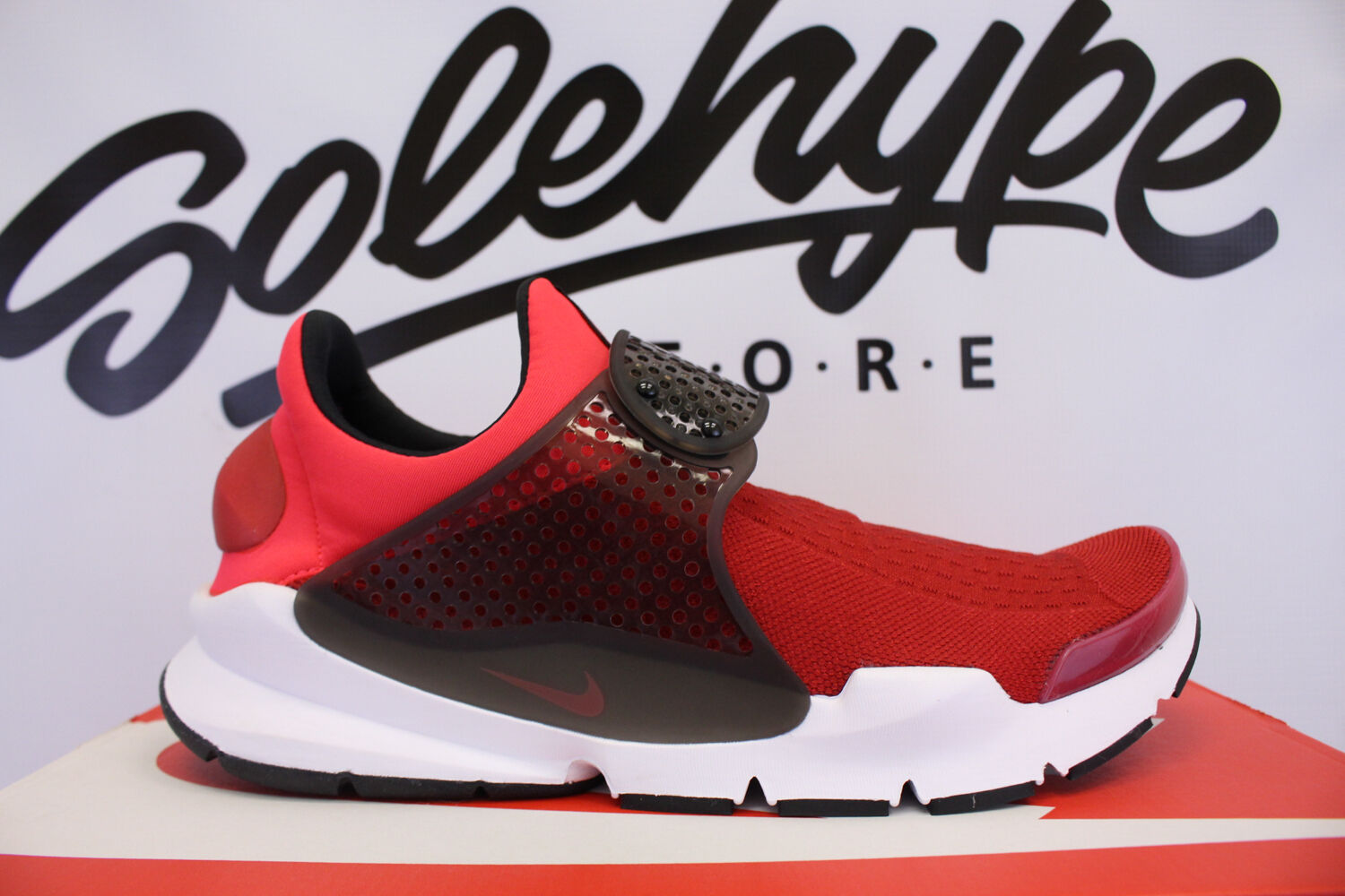 NIKE SOCK DART KJCRD GYM RED SOLAR RED SIREN RED SLIP ON 819686 602 SZ 9