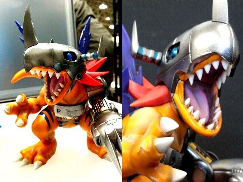 Resin Figure Kit Metal Greymon Digimon Robot Resin Figure Model Kit
