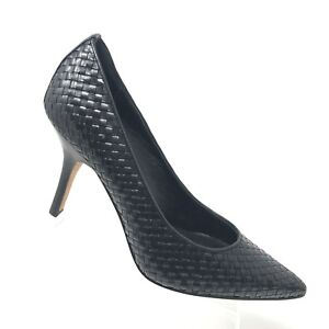 4bd0f07a853 Details about Donald Pliner CARRIE Woven Heel Pointed Toe Classic Pump  Womens Shoe SIZE 10 M