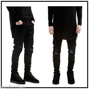 New-Men-Stylish-Ripped-Jeans-Pamts-Biker-Classic-Skinny-Slim-Fit-Denim-Trousers