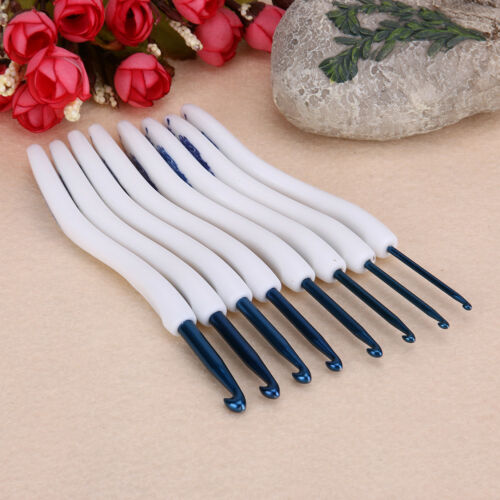 8//9//14pcs Multi Coloured Aluminium Crochet Hooks Yarn  Knitting Needles Weave