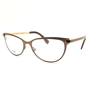 04aa57c767 Fendi FF 0024 7WG Matte Brown Gold New Authentic Eyeglass Frames ...