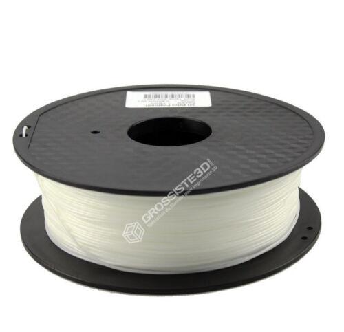 TPU Filament 3D Flexible imprimante 3D 1.75mm Blanc Livraison Gratuit