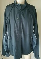 Colorado Timberline 115k Men's Black Gray Zip Up Spring Fall Rain Jacket 3xl