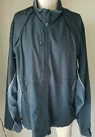 Colorado Timberline 115k Men's Black Gray Zip Up Spring Fall Rain Jacket 3xl