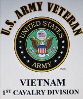 Vietnam: 1st Cavalry Division U.s.army Veteran W/army Emblemshirt
