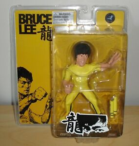 Bruce Lee action Figure with nunchuks Round 5 Game of Death