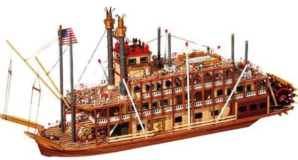 Occre Mississippi Paddle Steamer 1 80 Scale 14003 Model Boat Kit