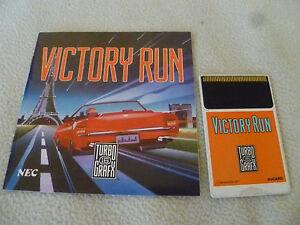 TURBOGRAFX-16-GAME-VICTORY-RUN-W-MANUAL-TURBO-GRAFX-HU-CARD-NEC-1989-HUDSON-SOFT