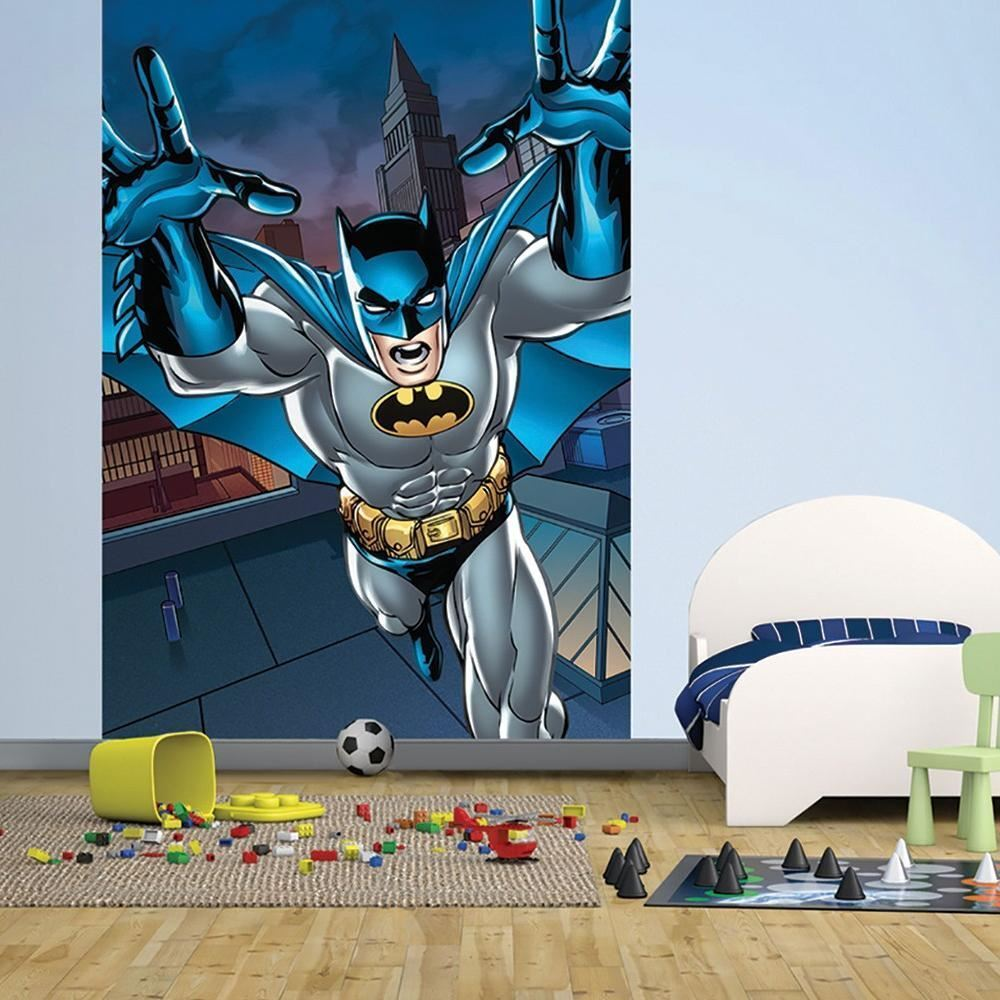 NEW 1 WALL EASY-HANG WALLPAPER MURAL BATMAN PORTRAIT COMIC 1.58M X 2.32M
