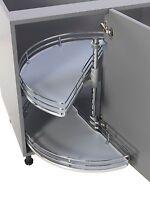 1/2 Corner Carousel Luxury Kitchen 900/1000mm Corner Units Solid Base/chrome