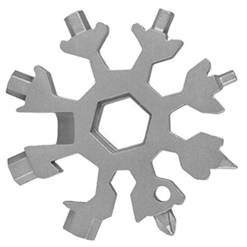 Multi-Tool 18-in-1 Schneeflocke Tragbares Edelstahl-Multifunktionswerkzeug