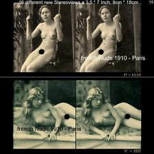 16 Akt - Stereofotos klassik Nude, Paris 1910, Lot 15, Stereoviews France