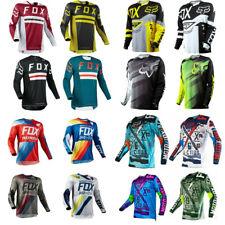 UK FOX Mens Off-Road Racing Jerseys Motocross Mountain Long Sleeve Bike Clothing