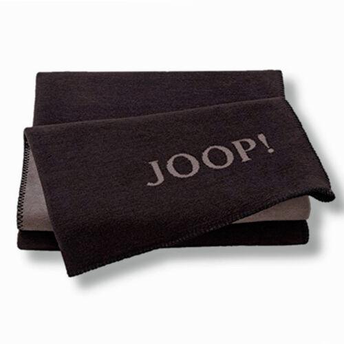 plaid uni-doublefdace Ebony-couleur taupe Joop