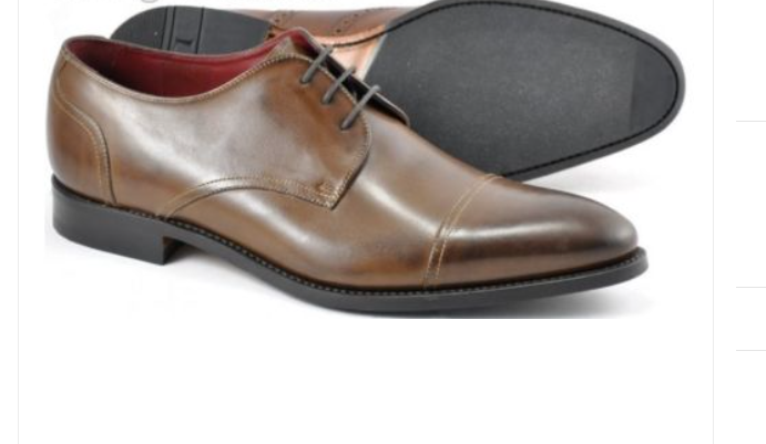 Loake Abberline Men's Brown Jack Derby Style Handcrafted Calf leather Shoes