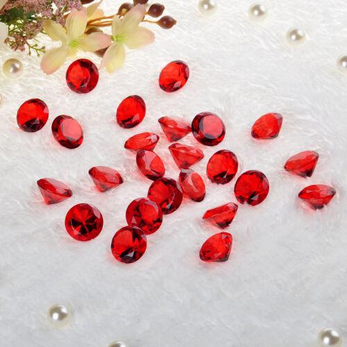 24PCS Red Crystal Diamond Shape Wedding Favor Home Decor Christmas Gifts 20mm