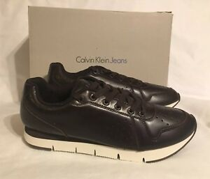 Calvin-Klein-Joshuah-Baby-Calf-Leather-Trainer-Shoes-S0366-Uk-9-Eu-43-Us-10-BNIB