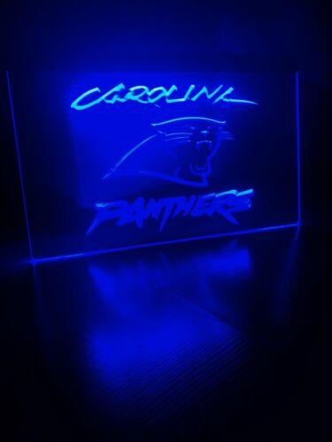 CAROLINA PANTHERS LED NEON LIGHT SIGN 8x12