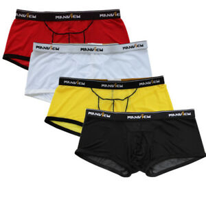 Men-039-s-Mesh-Lingerie-Underwear-Boxer-Shorts-Briefs-Underpants-Trunks-Short-Pants
